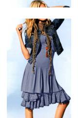 Šaty s krajkovou spodničkou