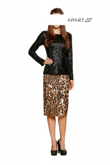 Sukně s leopardím vzorem