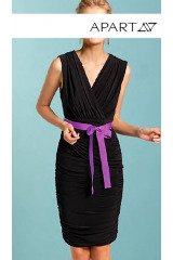 Nabírané úpletové šaty APART