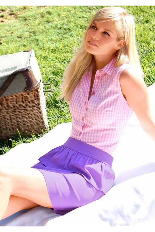 Letní krátká volánová sukně