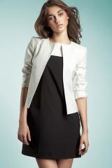 Bílé sako přes šaty NIFE (vel.36,42 skladem)