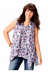 Tuniky, asymetrická značková tunika Amy Jones levně