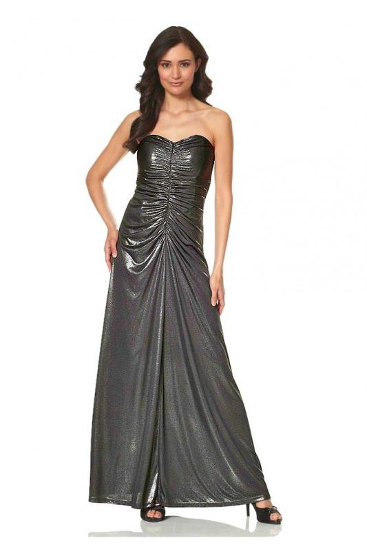 Metalické dlouhé večerní šaty Laura Scott Evening ec34b7415b