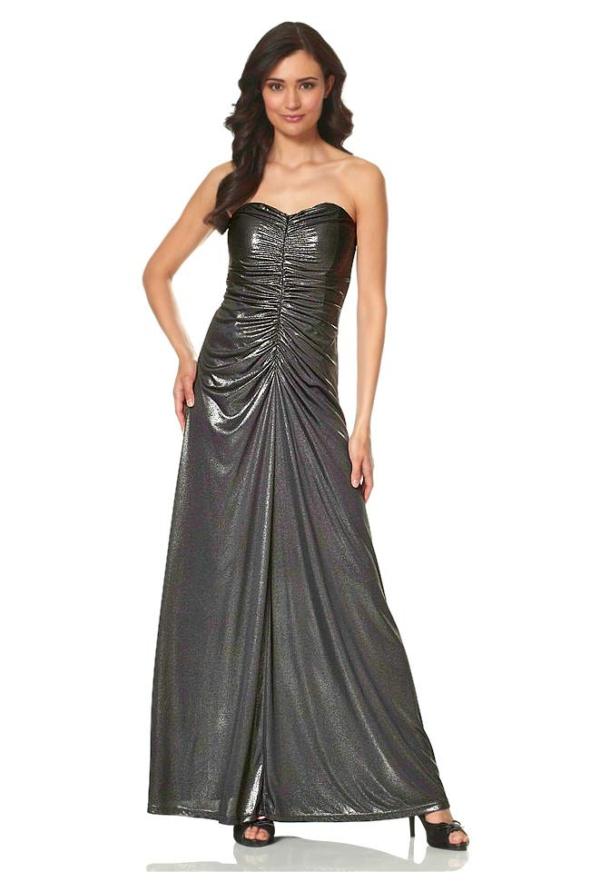 Metalické dlouhé večerní šaty Laura Scott Evening 83342e6922
