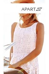Šaty na léto, šaty APART s děrovaným laserovým vzorem (vel.40 skladem)