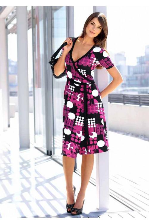 Zavinovací šaty, dámské šaty Vivance Collection (vel.36 skladem)