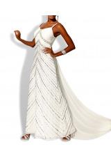 Svatební šaty levně, luxusní svatební šaty na ramínka HEINE (vel.36 zkrácená skladem)