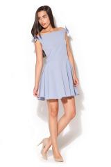 Krátké šaty, šaty KATRUS s mašlemi na ramenou