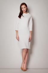 Šaty FIGL, pouzdrové šaty s lodičkovým výstřihem a stojáčkem (S skladem)