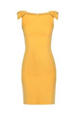 Pouzdrové šaty KATRUS s mašlemi na ramenou (vel.S,M,L skladem)