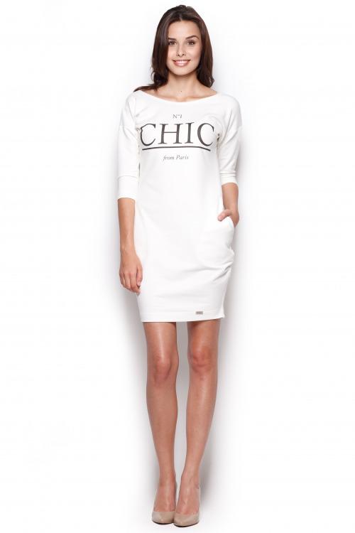 Šaty z teplákoviny, teplákové šaty, dámské šaty FIGL (vel.L,XL skladem)