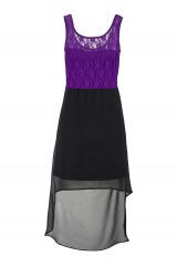 Šifonové šaty s krajkou, MELROSE