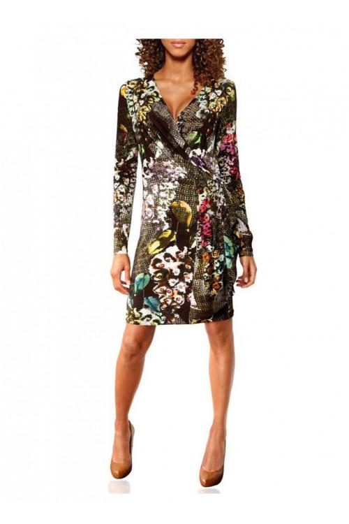Linea Tesini, dámské šaty s potiskem, šaty levně (vel.40 skladem)