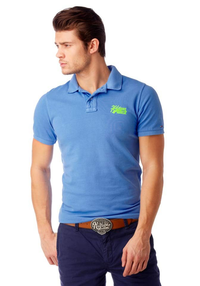Pánské triko s límečkem, polokošile TOMMY HILFIGER DENIM (skladem L)