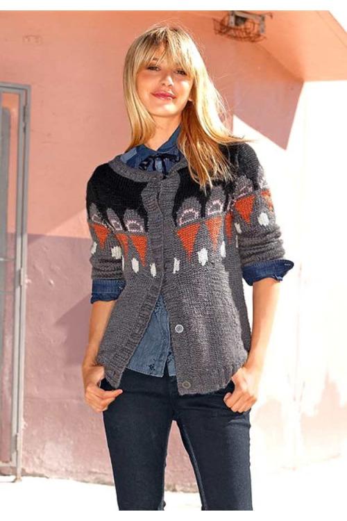 Značkový vlněný pletený svetr, FUGA (vel.XS skladem)