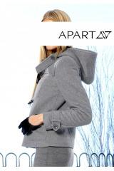 Vlněná flaušová bunda, vatovaná bunda APART