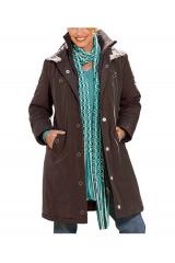 Vyteplená dlouhá dámská bunda SHEEGO (vel.42 skldem)