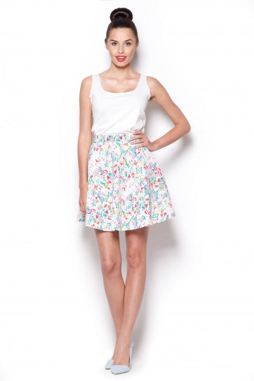 Letní sukně s květinovým vzorem FIGL (vel.L/40 skladem)