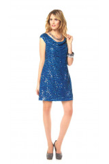 Třpytivé šaty s flitry, pajetkové šaty, flitrové šaty Marc New York (vel.38 skladem)