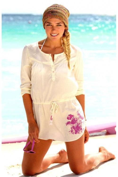 Značková tunika PUMA, dámská plážová tunika levně