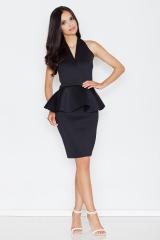 Pouzdrové šaty FIGL s řasením v pase (vel.S skladem)
