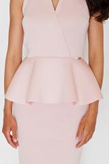Pouzdrové šaty FIGL s řasením v pase
