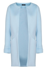 Dámské sako, dlouhé sako FIGL v neoprenovém vzhledu (vel.42/XL skladem)