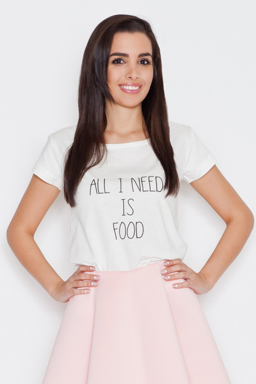 Trička, dámské tričko s nápisem, krátký rukáv, KATRUS
