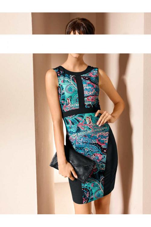 Krásné pouzdrové šaty MANDARIN (vel.42 skladem)
