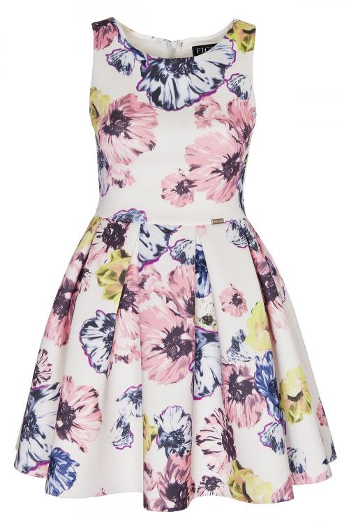 Elegantní šaty, dámské šaty FIGL z materiálu ve vzhledu neoprenu