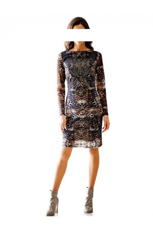 Šaty se zvířecím vzorem, šaty HEINE (vel.42 skladem)