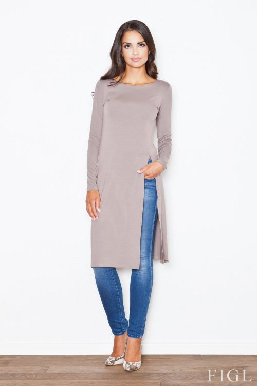 Podzimní móda, dlouhá tunika FIGL (vel.XL skladem)