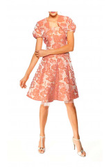 Žakárové šaty s květinovým vzorem Ashley Brooke Event (vel.38 skladem)