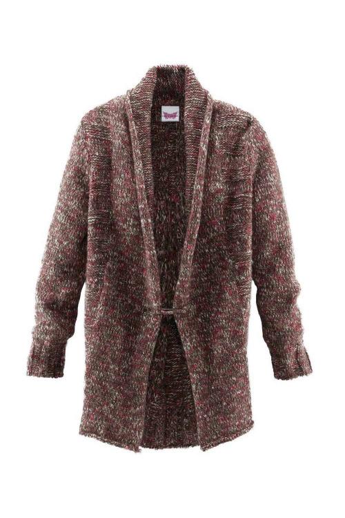 Značkový pletený kabát CREW UNITED