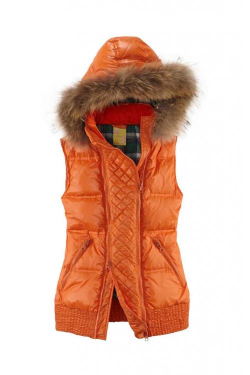 Luxusní dámská péřová zimní vesta s pravou kožešinou BIXBY & JADE (vel.36 skladem)