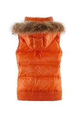 Luxusní dámská péřová zimní vesta s pravou kožešinou BIXBY & JADE