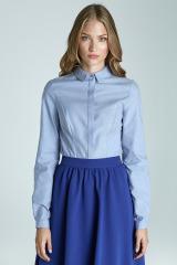 Klasická modrá dámská košile NIFE (vel.36 skladem)