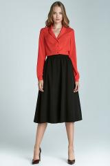 Módní sukně Midi NIFE, sukně midi pod kolena (vel.44 skladem)