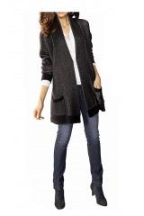 Dlouhý vlněný svetr, pletený kabátek ALBA MODA