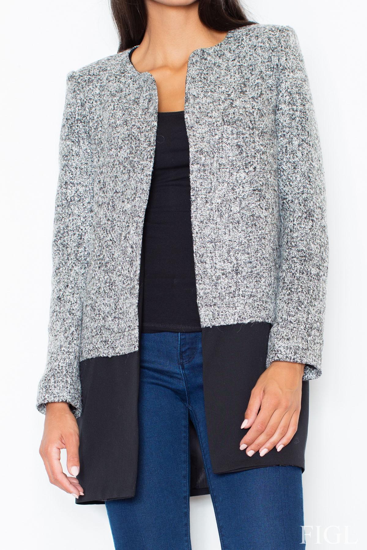 Dlouhé sako FIGL, dámský kabátek (vel.S/36 skladem)