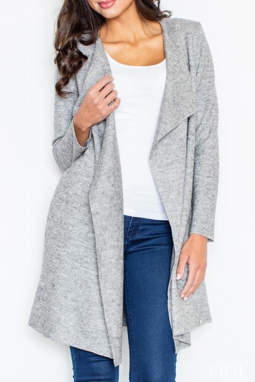 Dlouhý vlněný plášť, dlouhý vlněný svetr, Figl (S/36, L/40 skladem)