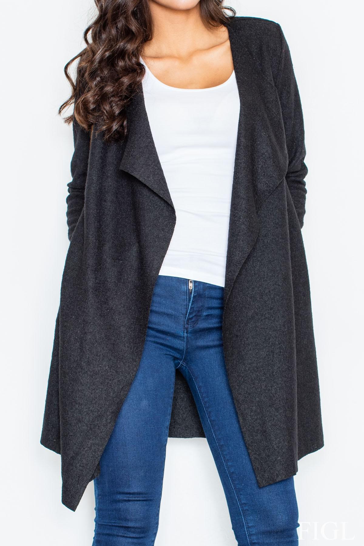 Dlouhý vlněný plášť, dlouhý vlněný svetr, Figl