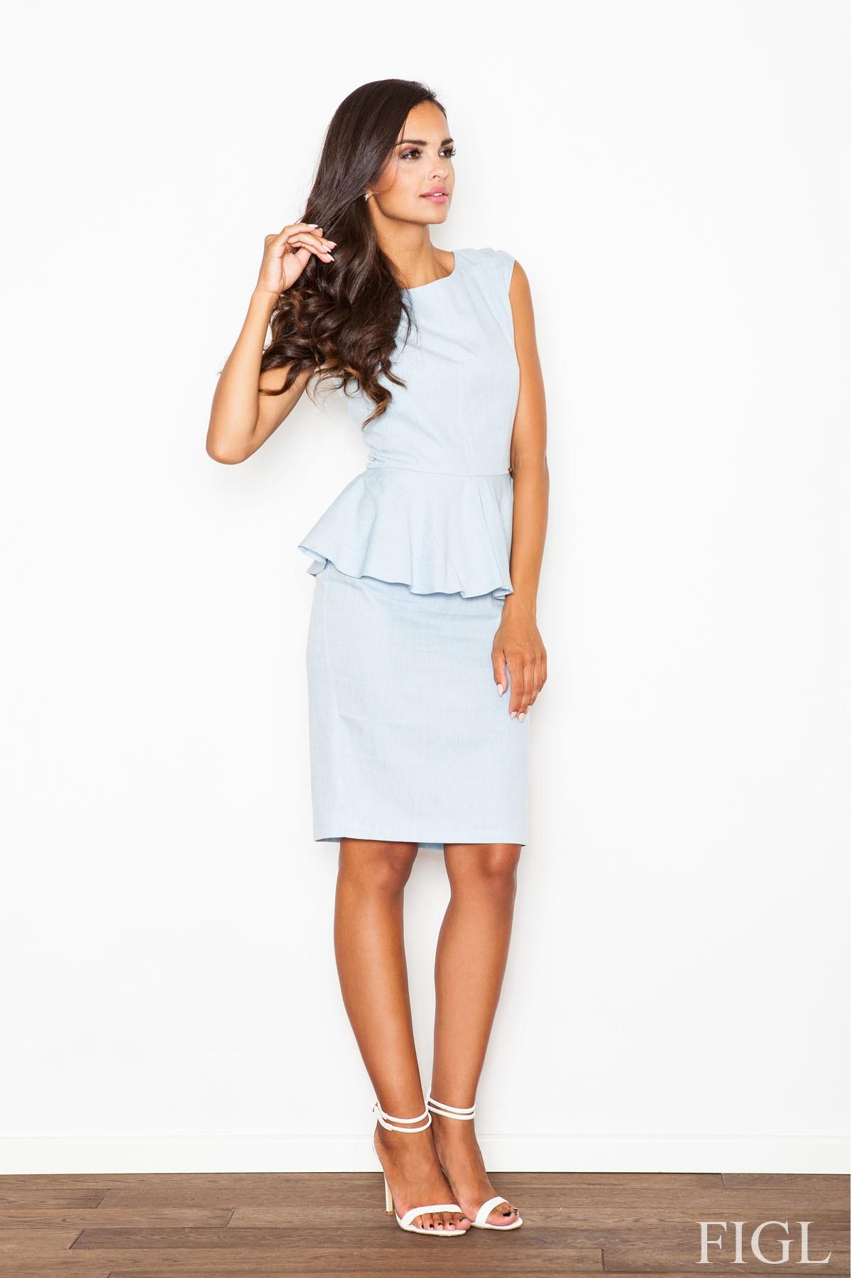 Pouzdrové šaty FIGL se šůskem (vel.L/40 skladem)