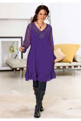 Dámské šaty pro plnoštíhlé, tunikové šaty XXL, móda nadměrné velikosti (vel.42,44 skladem)
