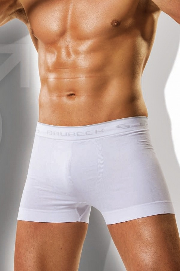 Pánské boxerky Boxer Brubeck bílé - bílá (M skladem)