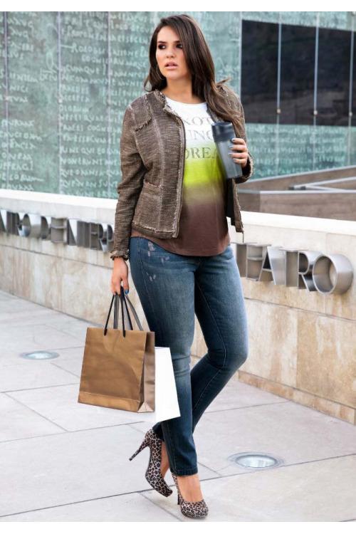 Bunda buklé pro plnoštíhlé TRIANGLE by s.Oliver, nadměrné velikosti, móda XXL