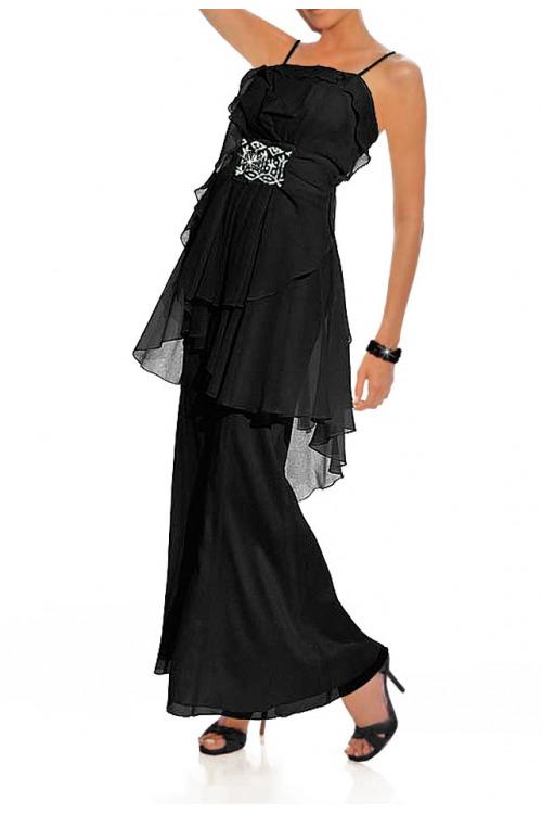 Černé společenské šaty na ramínka Carry Allen by Ella Singh (vel.38 skladem)