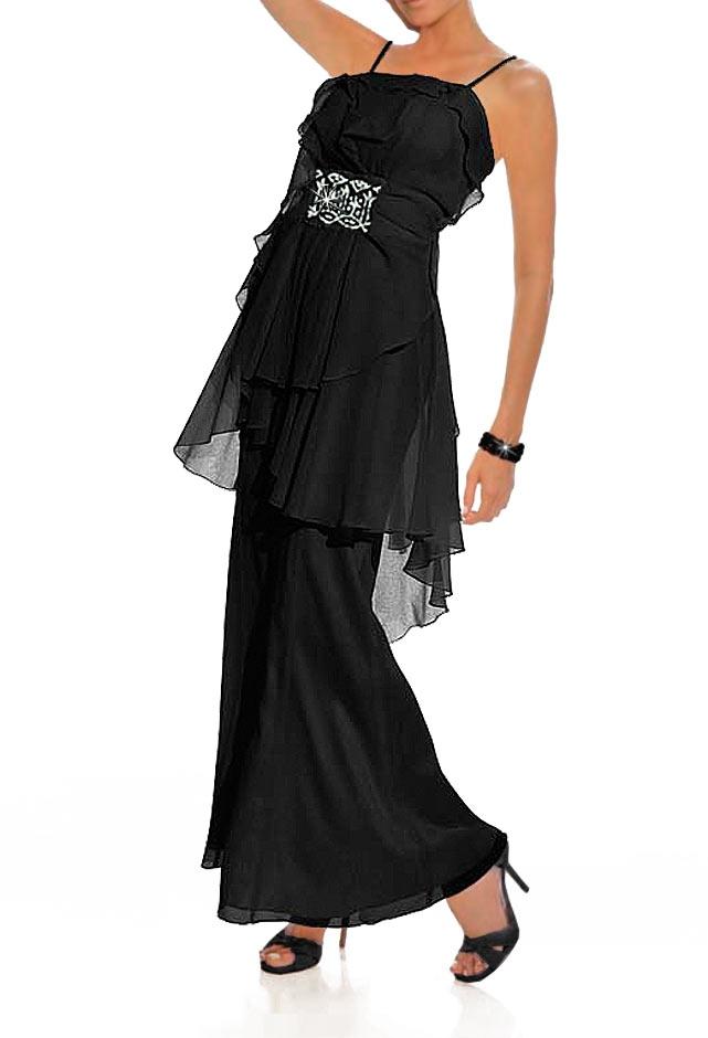 Černé společenské šaty na ramínka Carry Allen by Ella Singh (vel.38  skladem). Loading zoom e550c00c4d