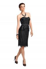Korzetové černé krajkové šaty APART (vel.38 skladem)
