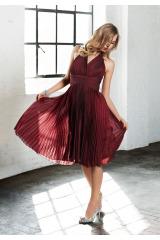 Plisované šaty za krk APART se šanžánovým efektem (vel.36 skladem)